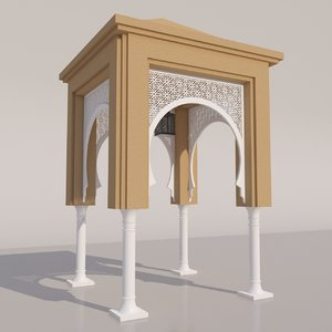 traditional moroccan door 3D