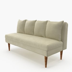 classic bench pillows 3D model