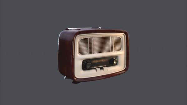 3D radio vintage