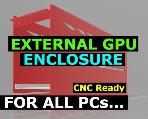 3D gpu enclosure model