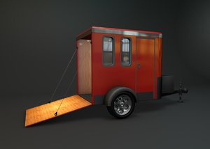 enclosed trailer 3D