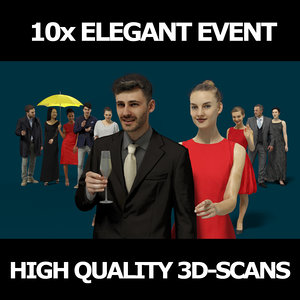 3D scanned people 10x collections model