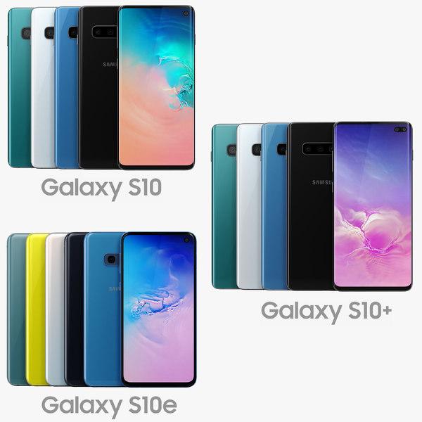 3D samsung galaxy s10 color