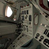 3D gemini capsule interior model