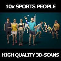 3D scanned people 10x collections