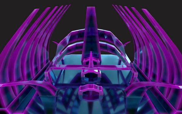 3D drone hell art