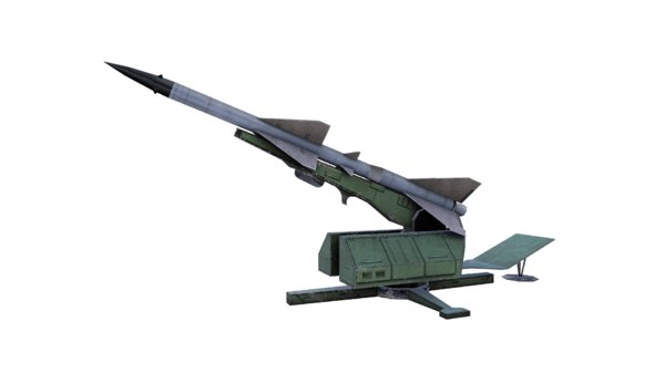 3D model missile aircraft s75 sam-2