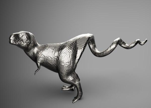 3D t-rex opener model