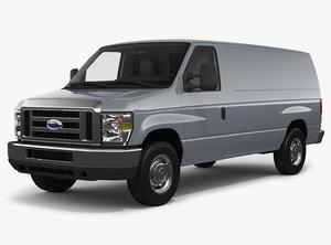 3D e-series e-350 cargo van