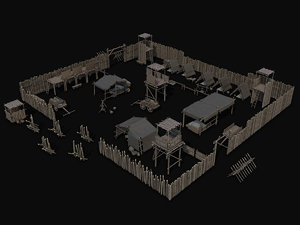 3D assets ancient camps