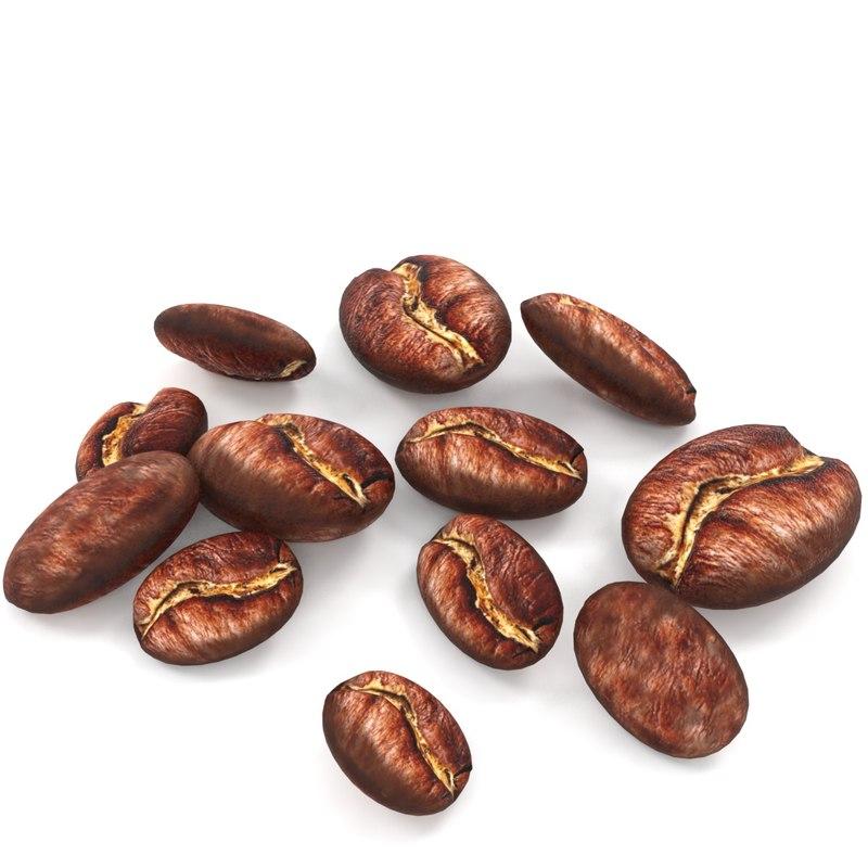 3D coffee bean espresso model