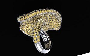 3D mushroom ring model