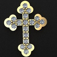 3D gold cross