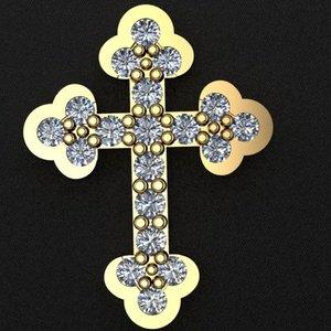 3D gold cross
