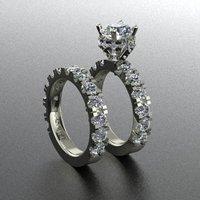 Halo ring with big diamond