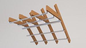 3D model attic beam