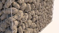 3D model realistic gabion double twisted