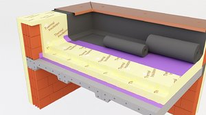 3D thermal insulation concrete roofing model