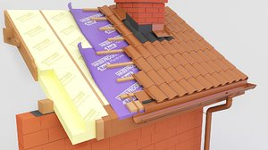 3D model thermal roof