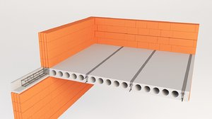 concrete floor roof 3D model