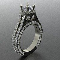 Halo Ring with diamonds