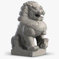 Sculpture Thai Lion Guardian