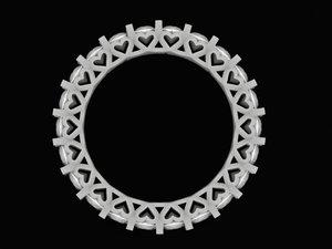 heart ring diamond model