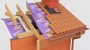 3D thermal insulation pir roof