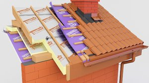 thermal insulation pir roof 3D