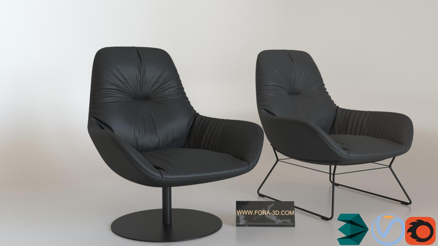 3D arcen armchair