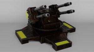 3D model turret military unreal