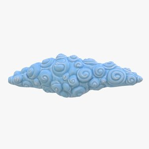 3D cartoon cloud