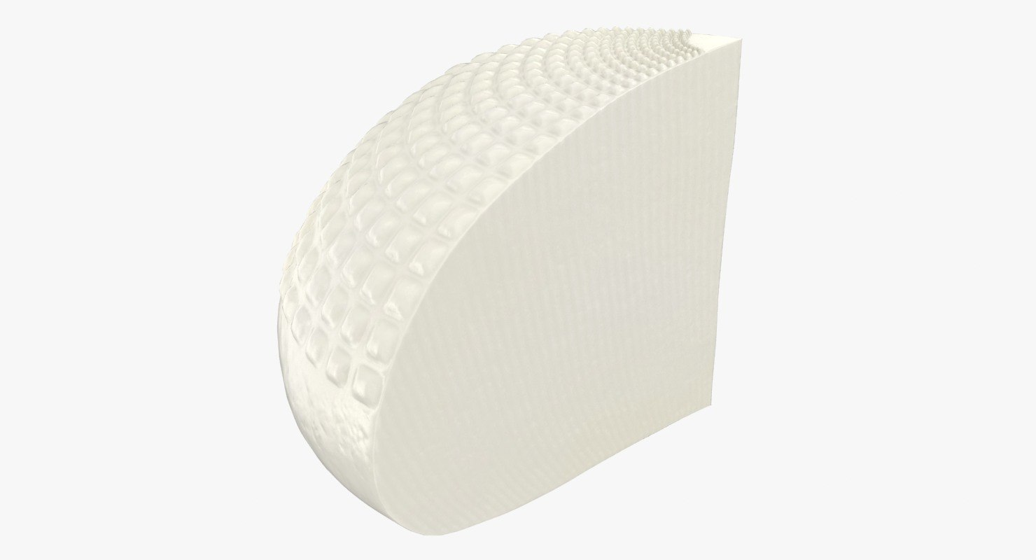 3D realistic soft salty cheese model