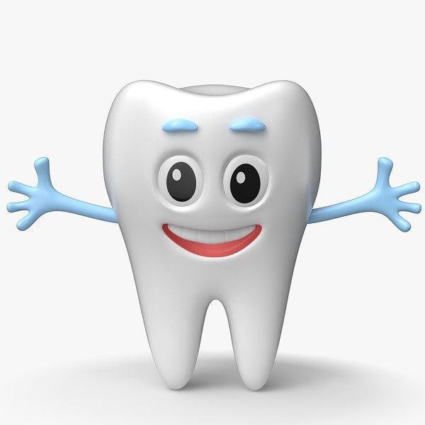 3D tooth cartoon toon