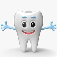 3D tooth cartoon toon