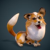 corgi animations 3D model