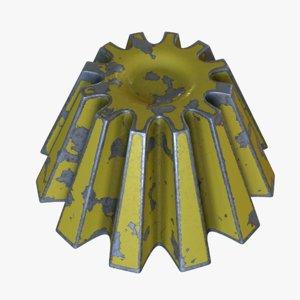 3D valve handle model