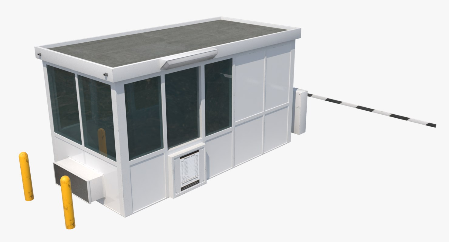 guard booth 3D