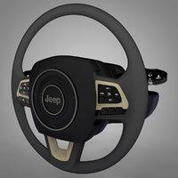 jeep renegade steering wheel 3D