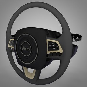 jeep renegade steering wheel 3D