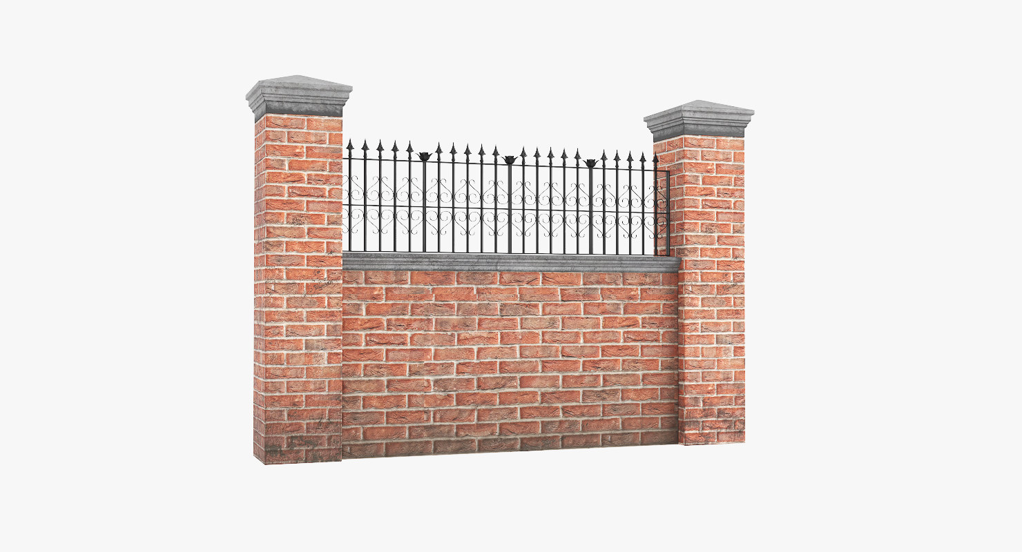3D garden wall v4 model