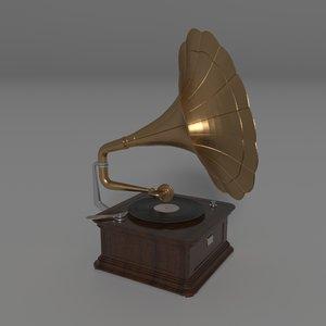3D gramophone vintage