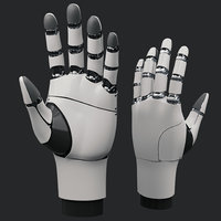 High Poly Robot Mechanical hand