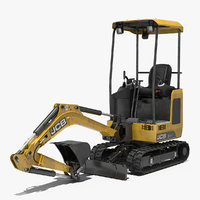 3D tracked mini excavator construction
