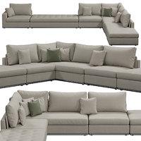 giulio marelli oliver sofa 3D