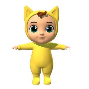 3D baby cartoon toon