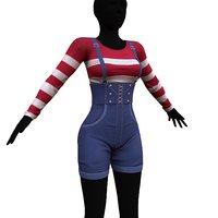clothes overalls 3D model