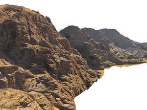 3D model wadi rum mountains mars
