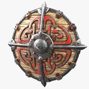 3D viking shield v1