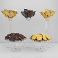 set oreo cookies 2 3D model